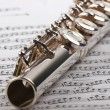 Flute and notes — Stock Photo #18867415