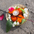 Flowers on sand — Stock Photo #22581529
