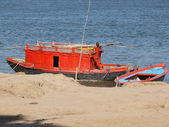 Boats on ganges — Stock Photo