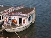 Boats on Ganga river — Stock Photo