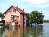 Flooded house — Stock Photo