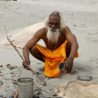 Ganges sadhu — Stock Photo