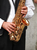 Sax player — Stock fotografie