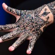 Hand paint with henna — Stock Photo