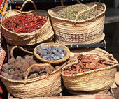 Spices on market — Stock Photo