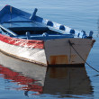 Blue fishing boat — Stock Photo