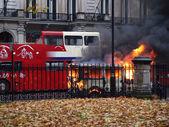 Burning van — Stock Photo