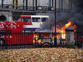 Burning van — Stock Photo