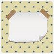 Paper banner on polkdot pattern — Stockvektor #14059316