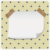Paper banner on polka dot pattern — Stock Vector