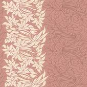 垂直方向のシームレスなパターンで柔らかい花 — ストックベクタ