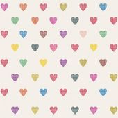 Retro seamless pattern with colorful hearts — Stockvector