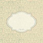 Elegant invitation card in classical style — Stock Vector