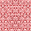 Red vintage seamless pattern for gift wrapping — Stock Vector