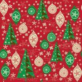 クリスマス ツリーのボールとのシームレスなパターン — ストックベクタ