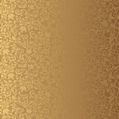 Seamless background of gold color in the style of baroque — Stock Vector