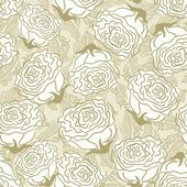 Sem costura padrão floral com rosas — Vetorial Stock