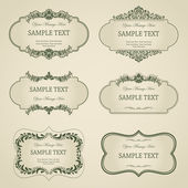 Vector set vintage frames — Stock Vector