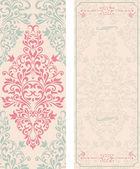 Set van antieke wenskaarten, mooi, luxe postkaarten — Stockvector