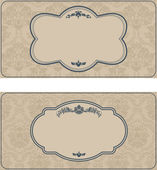 Set of antique greeting cards — Stock Vector