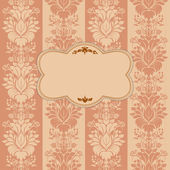 Vintage background, antique greeting card — Stock Vector