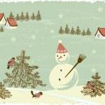 Retro Christmas Card — Stock Vector #7099970
