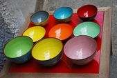 Colorful bowls — Stock Photo