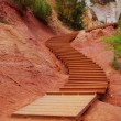 Ocher walk stairs — Foto Stock