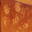 Ocher handprints background — Foto Stock