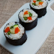Vegetarian sushi maki rolls — Stock Photo