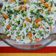 Vegetarian rice salad — Stock Photo