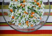 Vegetarian rice salad — Foto Stock