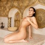 Attractive girl in the Turkish bath — Stock Photo #13846799