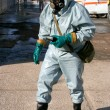 Man in chemical protection suit — Foto Stock