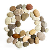 Path alphabet of ocean stones — Stock Photo