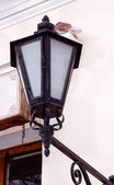 Wrought iron lamp — Stock Photo
