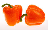 Two orange peppers — Stock Photo