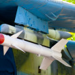Royalty-Free Stock Photo: Missile on the old Soviet fighters