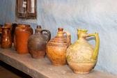 Prastaré hliněné vázy — Stock fotografie