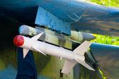 Missil på den gamla sovjetiska fighters — Stockfoto