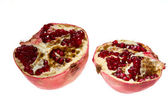 Ripe pomegranate fruit isolated — Stock Photo