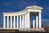 在敖德萨沃龙佐夫宫柱廊 — 图库照片