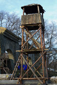 Observation tower on the Potemkin stairs in Odessa — Stock Photo