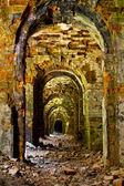 Ruins of ancient fort Tarakanov Rivne region — Stock Photo