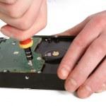 Computer hard drive repair — Stock Photo