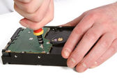 Computer hard drive repair — Stock Photo