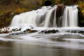 Waterfall on the river Kalmius — Stockfoto