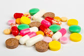 Close up colorful pills — Stock Photo