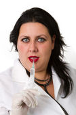 Beautiful doctor in gloves — Stock Photo