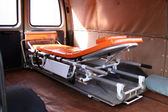 Inside view of used ambulance — Stock Photo